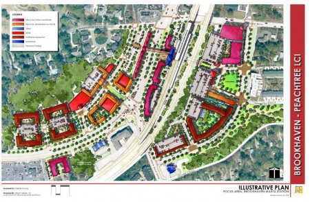 A study for transit-oriented development around the Brookhaven MARTA station calls for a mix of retail, office and residential. MARTA developments require that 20 percent of residential units meet affordable/workforce housing standards.