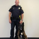 Brookhaven's Officer Ritch and K-9 Grizz.
