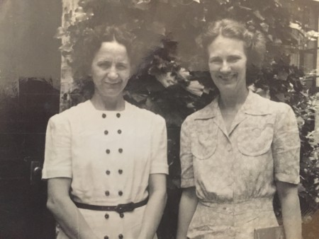 Alice Lyons and Gladys Gunning are two of the original Ladies of the Lake. In the 1940s, they would would gather at the lake with their children and tend to park upkeep.   [Photo provided by Ladies of the Lake]