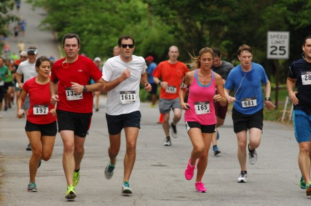 Scores raced through the streets of Ashford Park on May 16 during the annual Brookhaven Bolt.