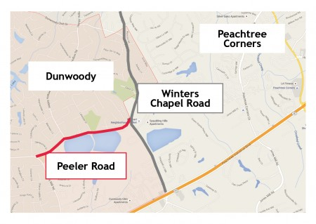 Winters Chapel Road, which runs through Dunwoody, Peachtree Corners and connects to Sandy Springs, will undergo a streetscape project, including trees, benches, parks and sidewalks.