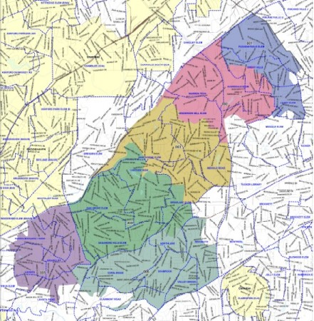 These areas are proposed to be included in a new DeKalb County city to be called LaVista Hills. Voters in the area will decide Nov. 3 whether to create the new city.