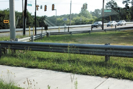 The corner of Dunwoody Club Drive and Spalding Drive is on Sandy Springs City property.