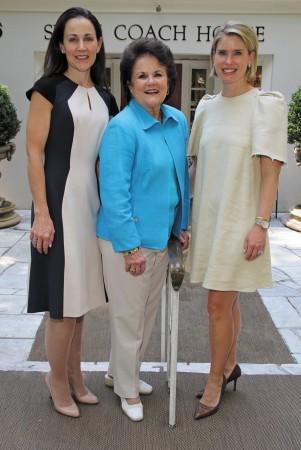 Swan Coach House 2015 Flea Market chairs Liza Jancik, left, and Landon Lanier, right, with honorary chair Jane Lanier.