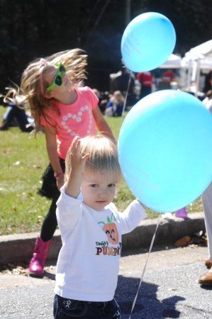 Apple Valley Road, next to Brookhaven MARTA Rail Station; Brookhaven Arts Festival; Saturday October 17, 2015 1:00pm.The Chevalier family, Father Greg, Mother Melissa, and children Alexis (5yr), and Nicole (2yr).