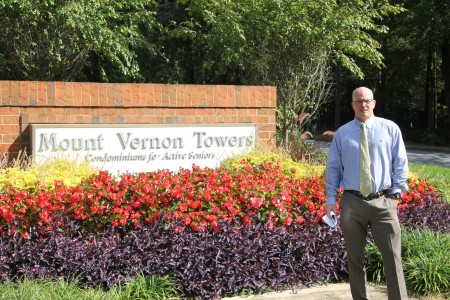 Chris Peterson, executive director of Mount Vernon Towers, questions the need for the double roundabouts.