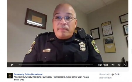 Lt. Fidel Espinoza warns teens Oct. 19 to go home and avoid participating in pranks.