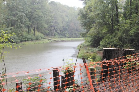 The city of Sandy Springs is assessing the condition of Lake Forrest Dam, built circa 1945-1950.