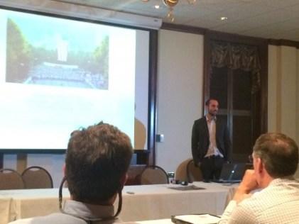 GDOT traffic engineer Andrew Heath addresses the Buckhead Council of Neighborhoods.
