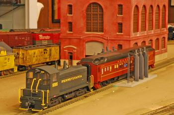 """This train is part of the model railroad layout of Sandy Springs resident Robert Young, one of four local participants in the Oct. 25 """"Piedmont Pilgrimage"""" open house tour. (Image from piedmontpilgrimage.com)"""