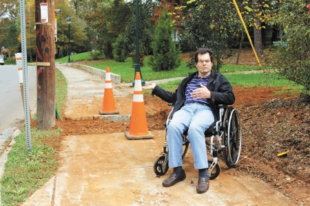 """Emerson """"Bill"""" Peet, a resident of Mount Vernon Towers, tries navigating along Mount Vernon Highway to visit his mother who lives less than a mile away, but the city's lack of consistent sidewalks make his journey an hours-long odyssey."""