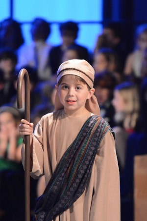 "Pace Academy first-grader Andy Levenson portrayed a shepherd in the ""Light One"