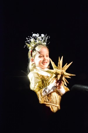 Pace Academy first-grader Eloise McDonald as the Christmas story's star of Bethlehem