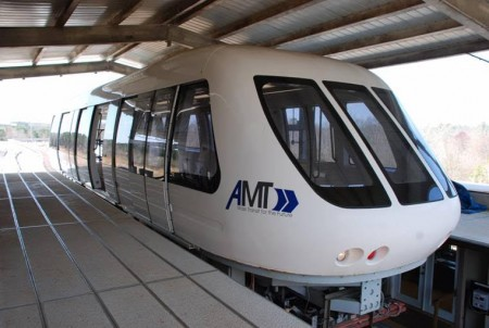 A test maglev train built in Power Springs in 2006 by American Maglev Technology.