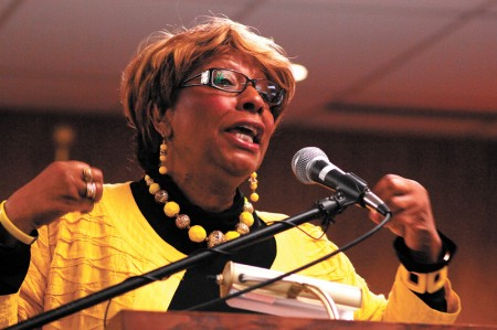 Tillie O'Neal-Kyles, founder of Every Woman Works, a nonprofit that helps achieve financial independence, personal growth and family leadership, was named the city's 2016 Humanitarian of the Year, at the 10th annual Rev. Martin Luther King Jr. Day celebration at City Hall on Jan. 18. (Photo Phil Mosier)
