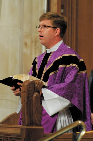 """The Rev. Canon C. Wallace Marsh VI calls himself the """"offensive coordinator"""" for Easter services at the Cathedral of St. Philip."""