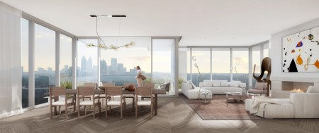 A rendering of a unit interior at the Emerson.