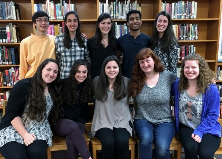 North Springs' Top Ten Scholars for the Class of 2016 -Back row: Luke Muehring, Elizabeth Gilbert, Alice Ann Lever, Sanjay John, Abi Szabo,  Front row: Jamie Greenberg, Rachel Kaufman, Alexa Rakusin,  Rachel Miller and Sarah Saltzman.