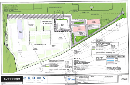 Plans for the proposed Dunwoody Crown Towers project.