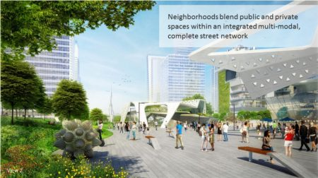 "An illustration of Jacobs' concept for the ""Buckhead Green"" park over Ga. 400 from the AIA Georgia Association awards web page."