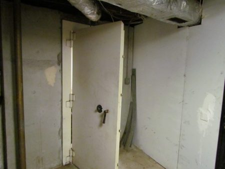 The vault-like door with a combination lock in the basement of the Style Taxi building in a photo provided by the company.