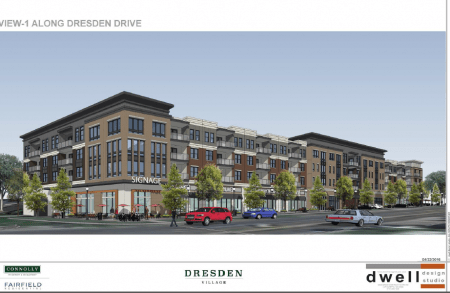 A rendering of the proposed Dresden Village from