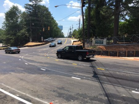 A photo of the newly reopened Sandy Springs Circle/Mount Vernon Highway intersection posted online by the city of Sandy Springs.