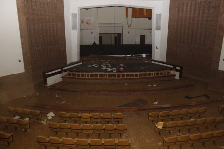 The theater and stage.