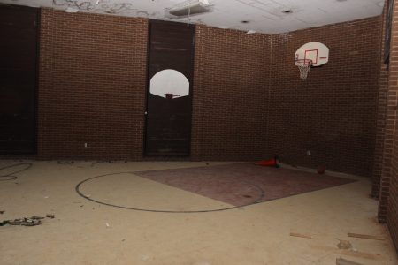 The former wheelchair basketball court. (Photo Dyana Bagby)