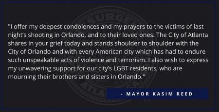 Atlanta Mayor Kasim Reed's statement from his Facebook page.