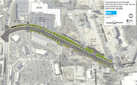 The first full design for Sandy Springs Circle as presented at a March 9 public meeting.