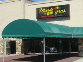 An image of the strip club Mardi Gras on Powers Ferry Road from the club's website.