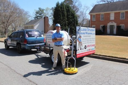 Wesley Bloeme with his College Student Pressure Washing rig. (Special)