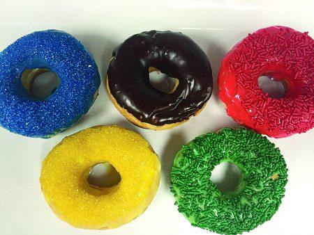 Bon Glaze's Olympic doughnuts. (Special)