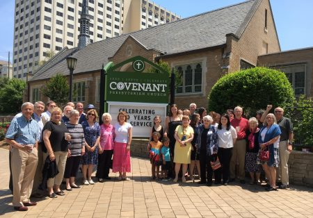 Some members of Covenant Presbyterian Church, which recently celebrated 90 years of service from its sanctuary at 2461 Peachtree Road. (Special)