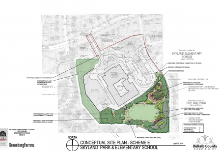 The current plans for the new Skyland Park on 4.6 acres.
