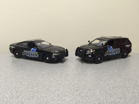The model Sandy Springs Police vehicles available for purchase. (Photo Sgt. Forrest Bohannon/SSPD)