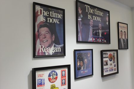 Campaign posters in the James and Camilla Comerford Collection. (Photo Dyana Bagby)