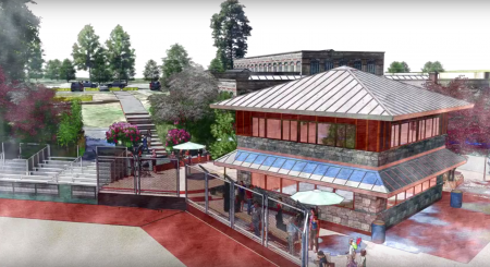 A rendering of the concession stand at the new Peachtree Charter Middle School fields.
