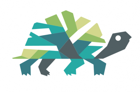 The turtle image created as part of the design process for the new Sandy Springs city logo.