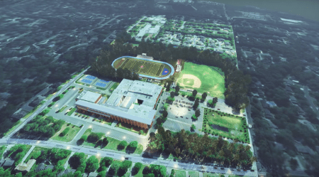 A rendering of the new field proposed at Dunwoody High.