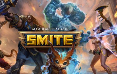 """Advertising art for the video game """"Smite,"""" made by Alpharetta's Hi-Rez Studios."""