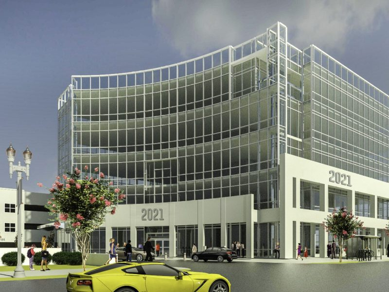Darlington Luxury Apartments and medical building