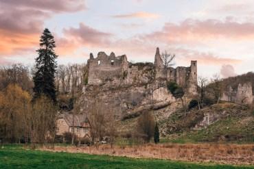 balade à Ahnée ruines de Montaigle