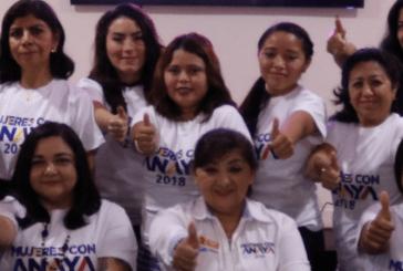 """ANGELICA CHUC, VERONICA CERVANTES Y GUADALUPE GONZALEZ, COORDINADORAS DEL FRENTE """"MUJERES CON ANAYA"""""""