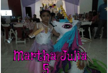 MARTHA JULIA CELEBRÓ SUS 5 AÑITOS
