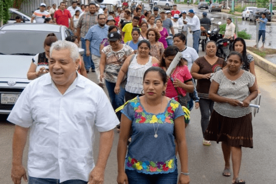 EL CHETUMALEÑO MANUEL VALENCIA SUMA SIMPATIZANTES A SU CAMPAÑA PARA PRESIDENTE MUNICIPAL DE OPB