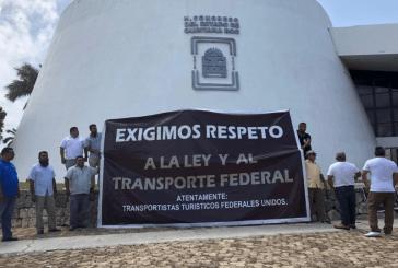 TRANSPORTISTAS FEDERALES SE MANIFIESTAN HOY Y EXIGEN PISO PAREJO EN LA LEY DE MOVILIDAD