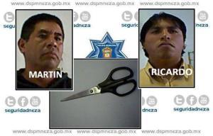 2013-IX-27 detenidos por robo con tijeras 000
