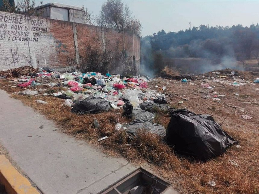 Foco de Infección por basura en las calles de Almoloya de Juárez (1)